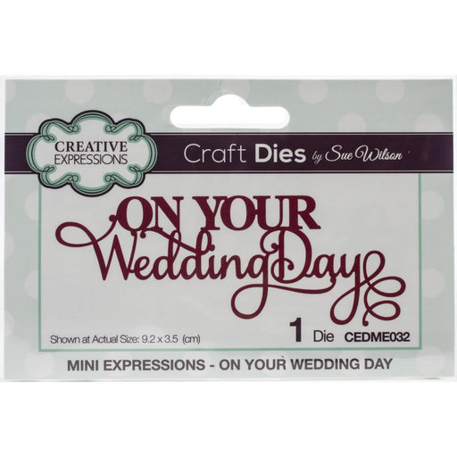 Creative Expressions Craft Dies Mini Expressions - On Your Wedding Day