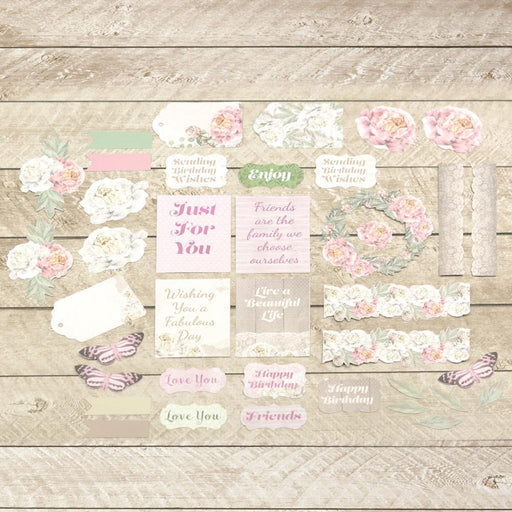 Couture Creations Ephemera - Peaceful Peonies 39/Pkg