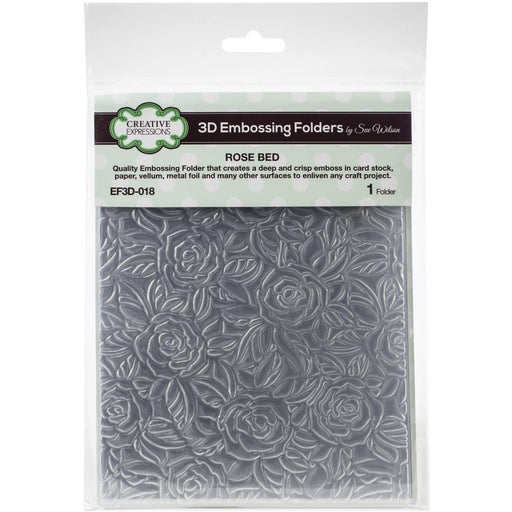 "Creative Expressions 3D Embossing Folder 5.75""X7.5"" - Rose Bed"