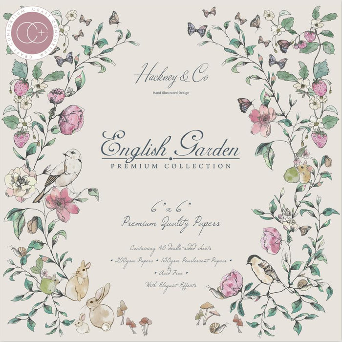 "Craft Consortium Double-Sided Paper Pad 6""X6"" 40/Pkg - English Garden"