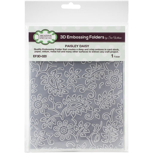 "Creative Expressions 3D Embossing Folder 5.75""X7.5 - Paisly Daisy"