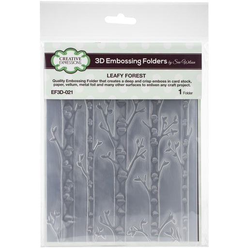 "Creative Expressions 3D Embossing Folder 5.75""X7.5"" - Leafy Forest"