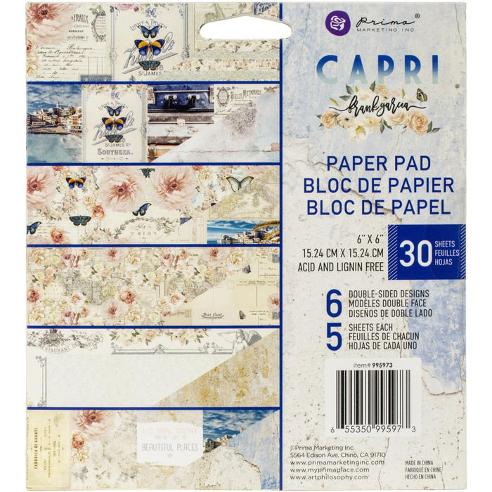 "Capri Prima Marketing Double-Sided Paper Pad 6""X6"" 30/Pkg"