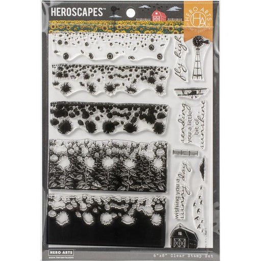 "Hero Arts Color Layering Clear Stamps 4""X6"" - Sunflower Field"