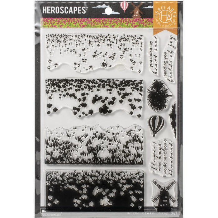 "Hero Arts Color Layering Clear Stamps 4""X6"" - Tulip Field"