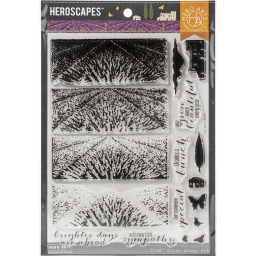 "Hero Arts Color Layering Clear Stamps 4""X6"" - Lavender Field"