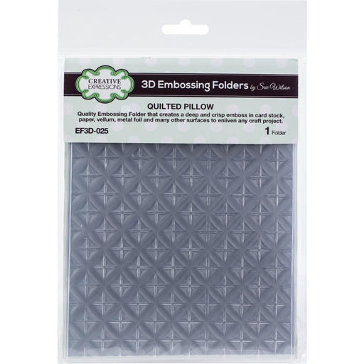 "Creative Expressions 3D Embossing Folder 5.75""X7.5"" - Quilted Pillow"