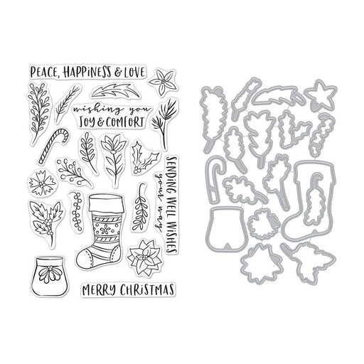 Hero Arts Clear Stamp & Die Combo - Stocking Bouquet
