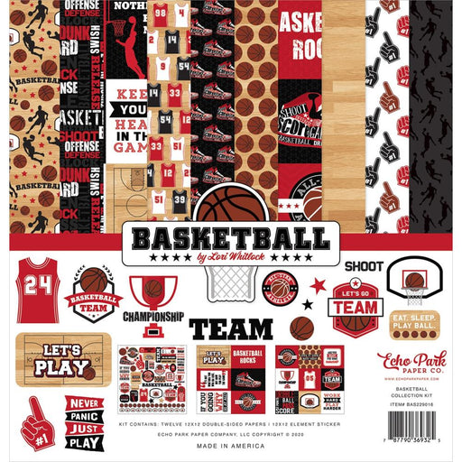 "Echo Park Collection Kit 12""X12"" - Basketball"