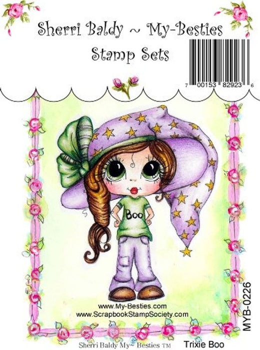 "My Besties Clear Stamps 4""X 6""Trixie Boo - MYB-0226"