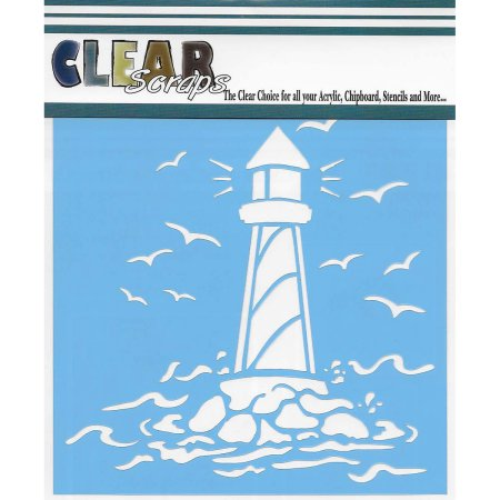 "Clear Scraps 12""x12"" Stencil Light House"