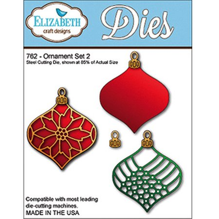 Elizabeth Craft Designs 762 Ornament Set 2
