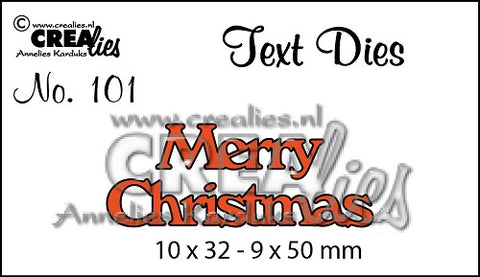 Text Die No. 101 - Merry Christmas