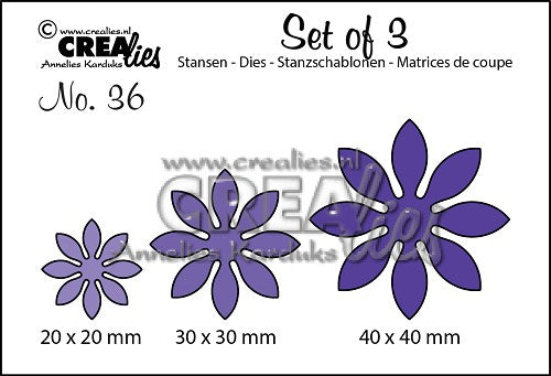 Set of 3 No. 36 - Flowers