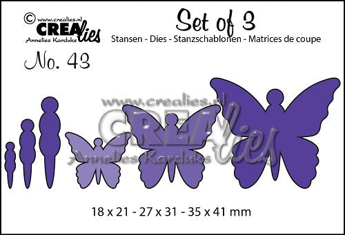 Set of 3 No. 43 - Butterflies