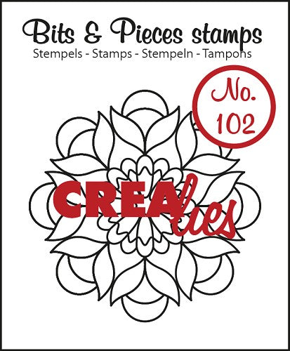 CLBP102 CREALIES  Bits & Pieces stempel/stamp no. 102 Mandala B