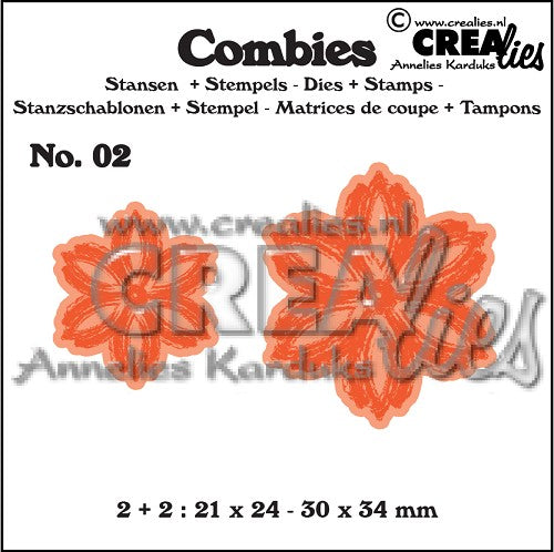 Combies Dies+Stamp No.2 - Flowers B