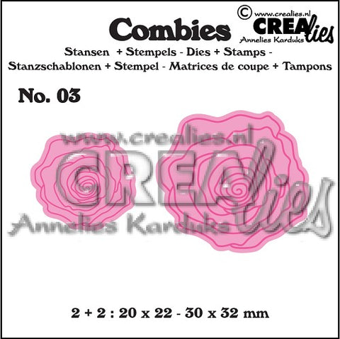 Combies Dies+Stamp No.3 - Roses Small