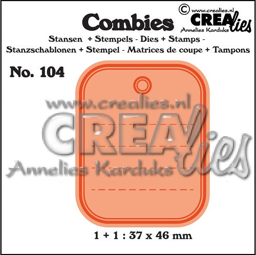 Combies Dies+Stamp No.104 - Tag A