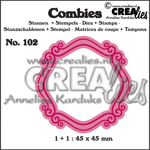 Combies Dies+Stamp No.102 - Frame B