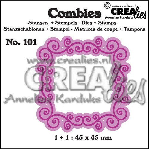 Combies Dies+Stamp No.101 - Frame A