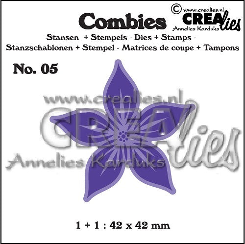 Combies Dies+Stamp No.5 - Flower a Large