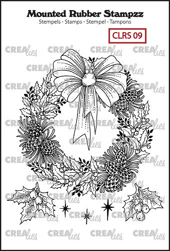 Mounted Rubber Stampzz No.9 - Wreath