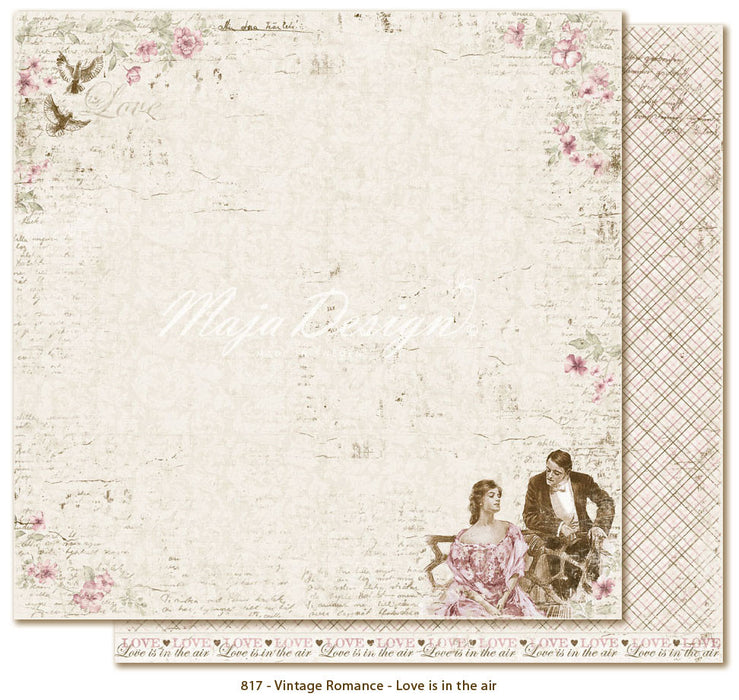 "MajaDesign 12""x12"" Vintage Romance Collection Love is in the air VIN-817"