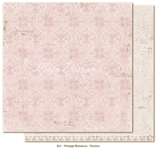 "MajaDesign 12""x12"" Vintage Romance Collection Passion VIN-821"