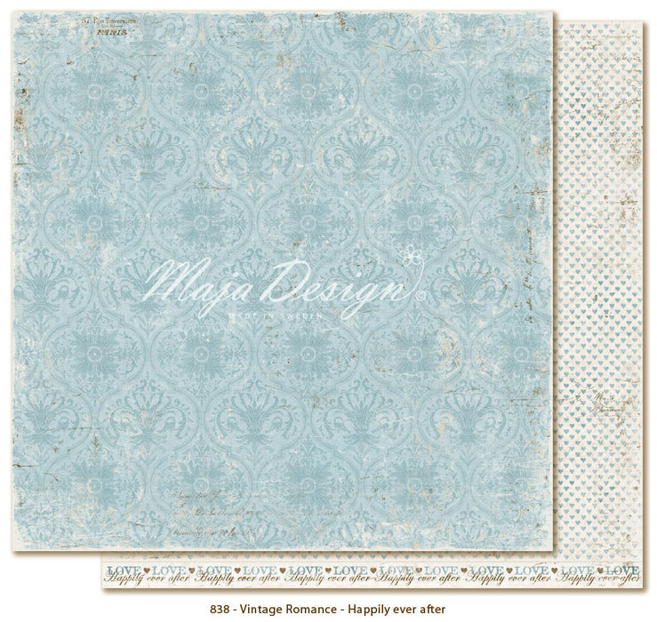 "Maja Design 12""x12"" Vintage Romance Collection  Happily ever after VIN-838"