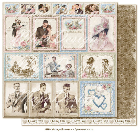 "MajaDesign 12""x12"" Vintage Romance Collection Ephemera Cards VIN-840"