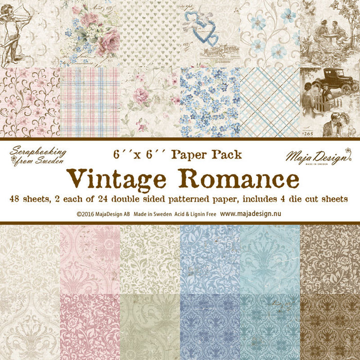 "MajaDesign 6""x6"" Paper pad Double Sided Patterned Paper Vintage Romance"