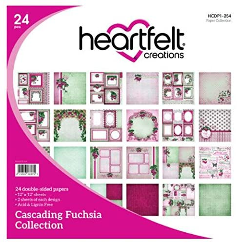 Heartfelt Creations - Cascading Fushsia Paper Collection