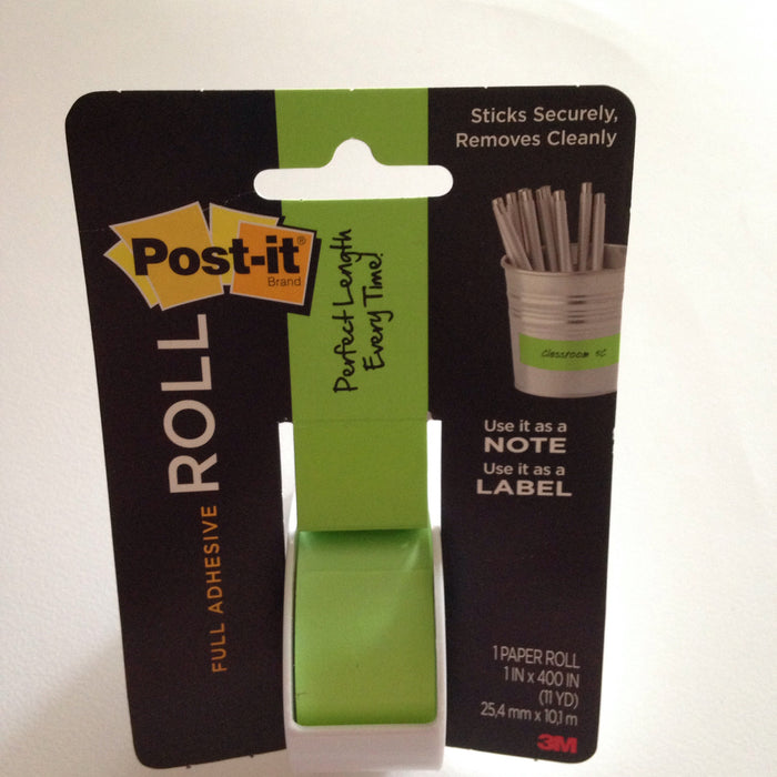 Post-it Full Adhesive Roll Green