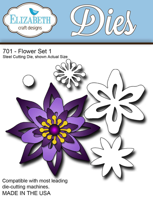 Elizabeth Craft Designs 701 Flower Set 1
