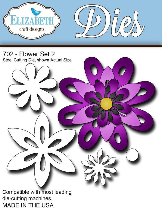 Elizabeth Craft Designs 702 Flower Set 2