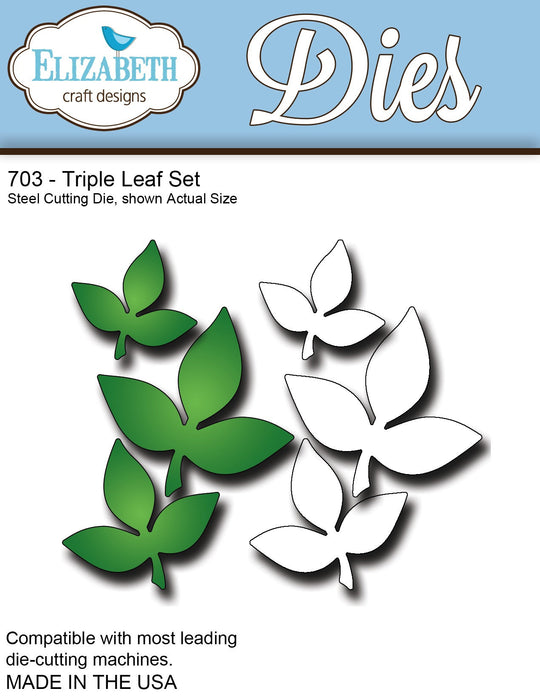 Elizabeth Craft Designs 703 Triple Leaf Set