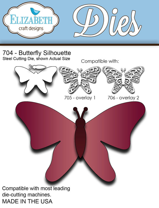 Elizabeth Craft Designs 704 Butterfly Silhouette