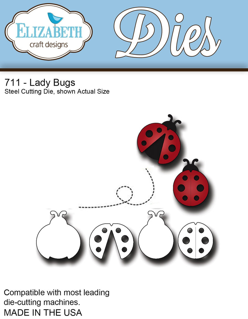 Elizabeth Craft Designs 711 Lady Bugs