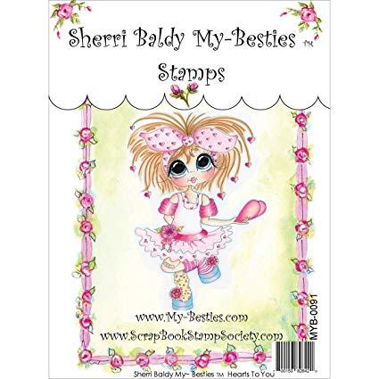 "My Besties Clear Stamps 4""X 6"" Hearts to You - MYB-0091"