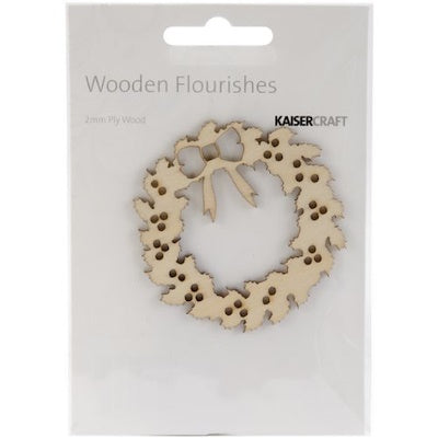 Kaisercraft Wooden Flourishes FL462 Wreath