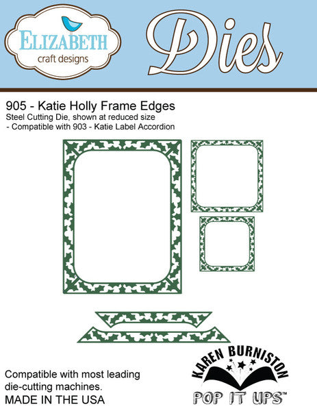 Elizabeth Craft Designs 905 Katie Holly Frame Edges