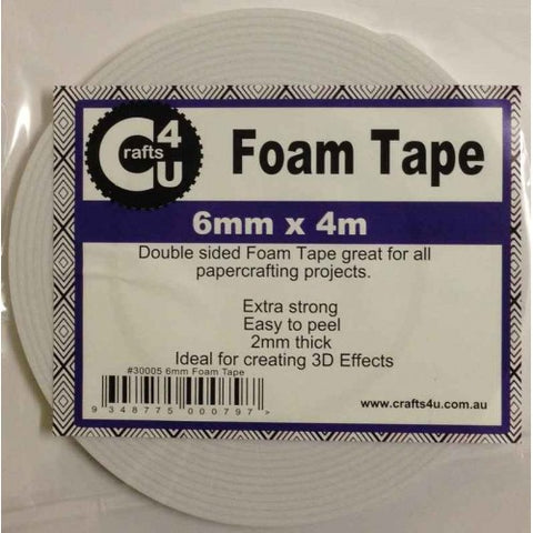 Crafts4U 6mm x 4m Foam Tape 2mm thick