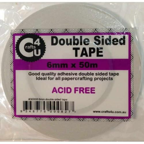 Crafts4U 6mm x 50m Double Sided Tape