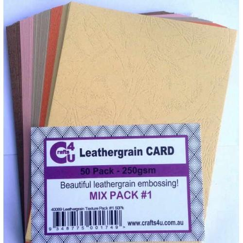 Crafts4U A5 Card Leathergrain Texture Pack 1
