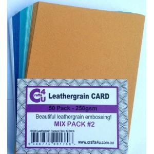 Crafts4U A5 Card Leathergrain Texture Pack 2