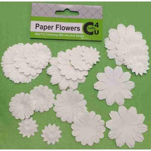 Crafts4U White Paper Flowers 32 Pack