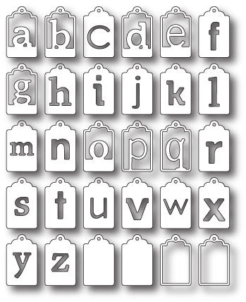 Library Alphabet Tags
