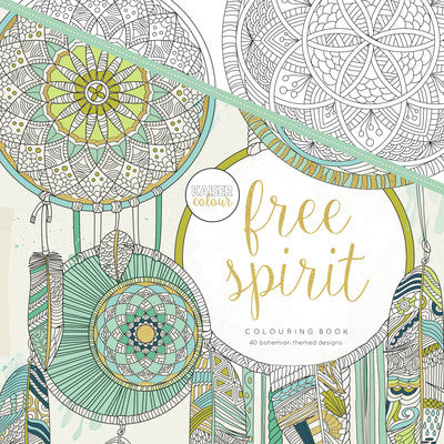 Kaisecraft Colouring Book CL502 Free Spirit