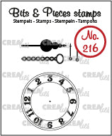 Crealies - Clear Stamp Bits & Pieces - Clock with a Chain and Pendulum